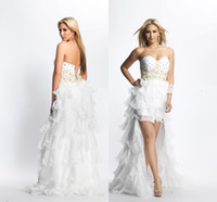 A-Line apple pi - Ruched Sweetheart Beaded White Homecoming Dresses Pi Lo Short Mini Sequined And Tulle With Removable Straps Prom Party Cocktail Gowns