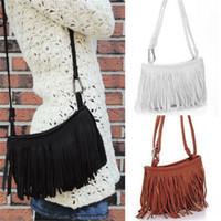 Women fringe bags - New Arrivals Women Bag Handbag Purse Tassels Fringe Faux Suede Shoulder Messenger Crossbody PU BX7