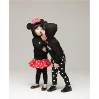Wholesale Top Quality MICKEY Mouse children s clothing Minnie Mouse dress boy girl suit skids sets clothes