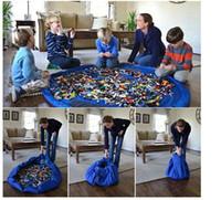 40cm 150cm Grand Portable Tapis de jeu Sacs de rangement pour enfants Enfants Enfant Baby Tapis de jeu Organizer Couverture Couverture Boxes Easy 30pcs