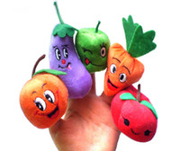 Wholesale Fruit Veggie Finger Puppets Set plush toys children toy Educational Toys Stuffed Toys Different Fruits and Greenstuff baby toys kids