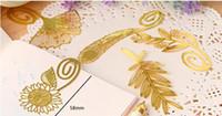 Wholesale Hot Fashion vintage exquisite plant cutout blade metal bookmark metal openwork bookmark