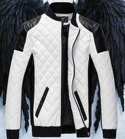 2015 Men's Jacket PU Leather jacket Motorcycle jacket slim men's Winter coat mens