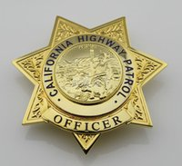 american com - The American California state highway CHP OFFICER Badge High Quality Repica Com Police Badge Free Shippign
