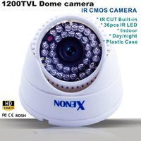 Wholesale White Indoor TVL cmos Security Surveillance pc IR led IR cut built in Night Vision CCTV Camera