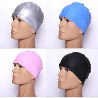 Wholesale Free size Waterproof PU Fabric Sports Siwm Pool Swimming Cap Hat for Men Women Adults Multicolor