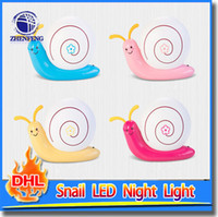 baby snail - Cute Cartoon Night Lamp110 v Decoration Snail Led Wall Light Charging Lamp USB Baby Bedroom Led Night Lights