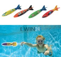 Wholesale 4PCS SET Underwater Torpedo Rocket Swimming Pool Toy Swim Dive Sticks Holiday Games New and Hot Selling sets