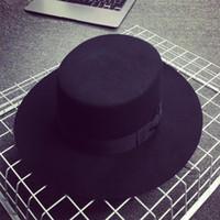 Wholesale New Maison Wide Brim Wool Hat Michel Rabbit Felt Fedora Virginie Unisex Black Gray For Leisure Outdoor Sun Hat