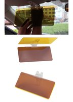 Wholesale Hot Sales Car Sunshade Including mirrors As a Set Anti Glare Dazzling Goggle Day Night HD Vision Driving Sun Visor C266 With Retail Box
