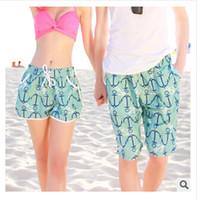Cheap Wholesale- 2016 Summer women mens swimming trunks shorts Beach shorts Fashion couple swimwear Summer pants Quick-dry Beach shorts pants