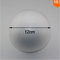 Wholesale Free shiping cm natural white styrofoam round balls Craft ball foam ball diy handmade painted ball