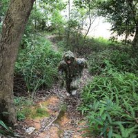 Wholesale Lightweight Ghillie Suits Camouflage Bionic Ghillie Suit for Outdoor Hunting Games Woodland Leaves Hide Ghillie Clothing