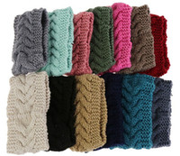 Wholesale New Arrive Colors Flower Crochet Knit Knitted Head wrap Headband Ear Warmer Hair Muffs Band Winter