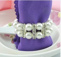 Wholesale Imitation Pear Napkin rings Wedding party Accessories Jewelry accessories Bead ring R357