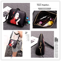 beautiful ladies body - Shoulder Bags Shells Small BagS For Women Girl Fashion Printing Beautiful Diagonal Package PU Hard Classic Ladies Bag