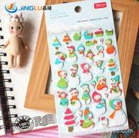 Wholesale YEEHYUN Korean Style Three Dimensional Decorative Stickers Snowman Felt