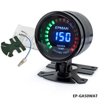 analog temperature gauge - TANSKY New Epman Racing quot mm Smoked Digital Color Analog Water Temperature Temp Meter with Sensor bracket EP GA50WAT
