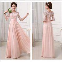 bodycon dress - Women Evening Dresses Lace Formal Evening Wedding Long Prom Gown Bodycon Dresses DH04