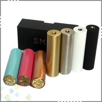 Wholesale E Cigarette SMPL Mod Full Machanical Mods Red Copper SS Black Brass SMPL Mod for Battey Clone SMPL Mods Thread Fit RDA Atomzier