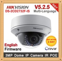 hd ip camera - V5 Original Hikvision ip camera DS CD2732F IS New High Quality ZOOM lense MP HD IR security network ip dome cameras support POE