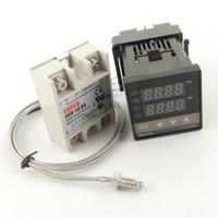 Wholesale Smaller Size Digital PID Temperature Controller REX C100 Max DA SSR Relay M K Thermocouple Probe for