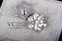 achat en gros de boutons hexagonaux-Bijoux 18mm Accessoire bricolage étoiles hexagonale Cristal Boutons Ginger Snap bouton Bijoux Chunk Snap bouton D444L