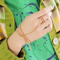 achat en gros de bracelets d'or inde-Shining Gold Couleur Steampunk Style de Charm Bracelets en 2014 de l'Inde pour femmes élégantes