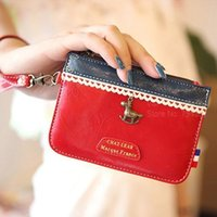 Cheap Color matching Coin purse Handbag women Wallets Key pouch Storage bag case organizer for stationary School supplies 6306