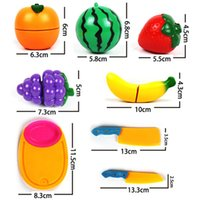 Wholesale Free DropShipping Cute Set Baby Kids Gift Kitchen Food Pretend Play Toy Cutting Fruit Knife New
