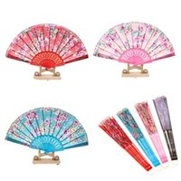 lace hand fan - Spanish Lace Folding Hand Fans Rose Wedding Bridal Favors Dancing Party Decor Summer Fans Gifts