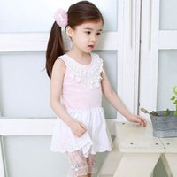 Cheap 2015 New Fashion Summer Kids Baby Dress Casual Wear Toddler Child Clotes Girl Princess Fancy Bowknot Sleeveless Flower Pleated Dress - Q0021