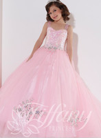 ball cap cleaner - 2015 Pink Sweet Cute Flower Girls Dresses Sequins Beads Double Straps Little Rosie Pageant Gowns Hot Sale Clean Tulle Prom Party Wear