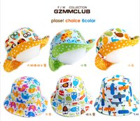Cheap 3621 princess bonnet spring and summer baby bucket hats cartoon child cap baby cap