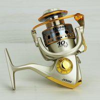 Cheap 10BB 5.5:1 Aluminum Spool Spinning Reel Ocean Fishing Gear JX3000-7000Series Folding Arm Baitrunner Carp Fly Fishing Reel
