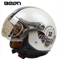 Wholesale 2014 Beon vintage Motorcycle helmet capacete motorcycles motorbike helmet DOT approved summer half helmets casco motorcycle