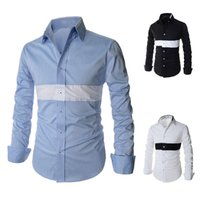 Wholesale New Spring Autumn Men Fashion Long Sleeve Slim Fit Shirts Tops Male Casual Clothing Dress Shirt