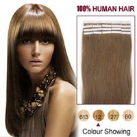 Wholesale 16inch g brazilian remy human hair Skin Weft Hair Extensions silky Straight tape in human hair extensions