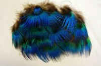 Wholesale Hot sale Retail quot DIY peafowl Peacock green feathers feather jewelry hair wedding dress accessories