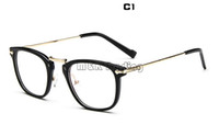 cheap stylish glasses df51  Cheap Glasses Shop Square Frame 2015 Fashion Optical Frame Vintage Metal  Carved Stylish Women Eyewear Mix