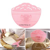 Wholesale Cute Practial Home Kitchen Rice Washing Cleaning Tool Beans Peas Wash Gadgets Plastic pink sieve new Promotion