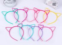 achat en gros de bandeaux de couleur en plastique-Bandeaux pour les enfants Oreilles de chat Plastique ABS avec des peignes courts oreille d'animal couleur multi