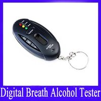 Wholesale Mini digital breathalyzer tester with timer and keyring