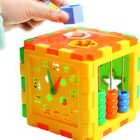 Wholesale Plastic Toy Matching Blocks Baby Intelligence Educational Sorting Toys Box