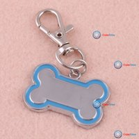 Wholesale cointree Cute Stainless Steel Metal Bone Shaped Pet Dog Cat ID Tag Medium Name Tags High Quality