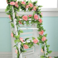 beige color walls - 1Pcs DIY Artificial Rose Vines Color Flowers For Wedding Decoration Long CM Silk Flowers Leaves Vine Home Decor FV0026