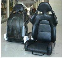pvc leather car - Car Seats Racing seat modification leather carbon fiber car seat adjustable PVC material SPQ