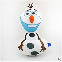 action cushion - 20pcs LJJC2488 High Quality Frozen Olaf Foam Filled Soft Cartoon Throw Cushion Sofa Pillow Snowman Action Figures Children Christmas Toys