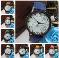 cheap gifts for women - charm Denim studert Wrist Watches Fashion quartz unique vintage Watches For Women Men Watches gift cheap China
