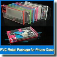 Wholesale Universal Mobile Phone Case Package PVC Transparent Plastic Retail Packaging Box for iPhone Samsung HTC Cell Phone Case